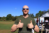 In Australia, thumbs up isn't a rude gesture like it is here.  Let's not tell him! 9/26/09