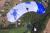 My shadow on Alex's canopy. 9/26/09. Published in Parachutist, January 2010.