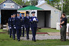 Honor Guard begins flag folding ceremony. 5/8/10