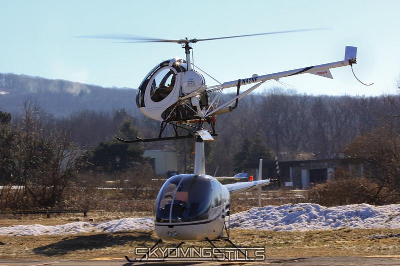 Schweizer 300 and R-22. 1/23/10