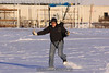 He kicks up some snow when he runs. 1/10/10