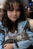 Isabel and her new kitty. 11/27/10