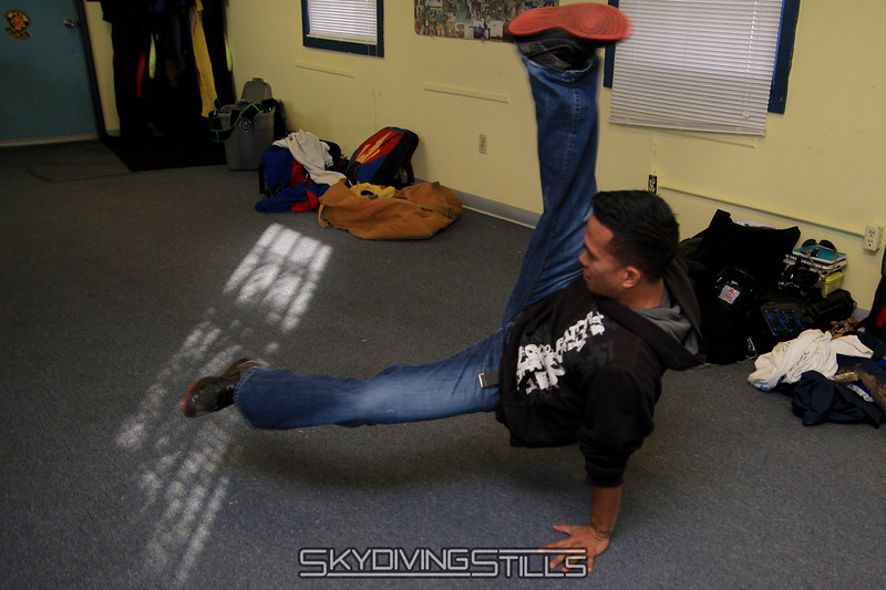 Brian shows us some break dancing moves. 11/27/10