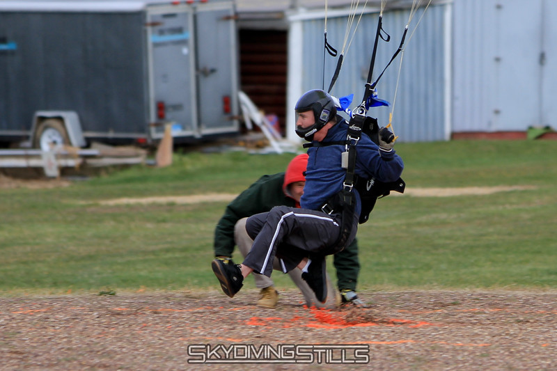 Dead center! Curse of the Velo is broken. 12/4/10 Published in Parachutist, Featured Event Photo, March 2011.