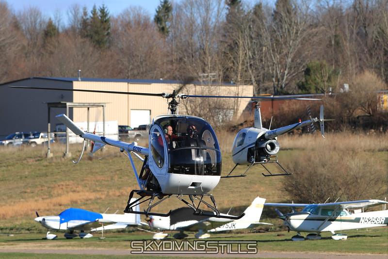 Schweizer 300 and R-22. 12/4/10