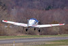 Scottish Aviation Bulldog N123SY lifts off. 3/27/10