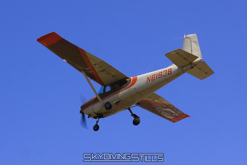 Cessna flies over. 3/27/10