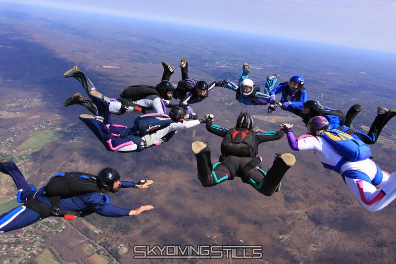 Alex flies under Jody... 4/4/10