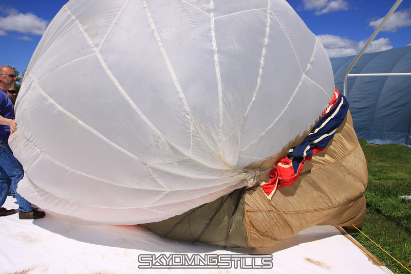 Starting to inflate. 5/15/10