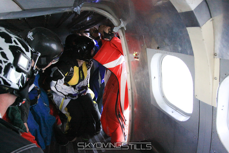 Wingsuiters climb into the door 3 miles past the dropzone. 5/16/10