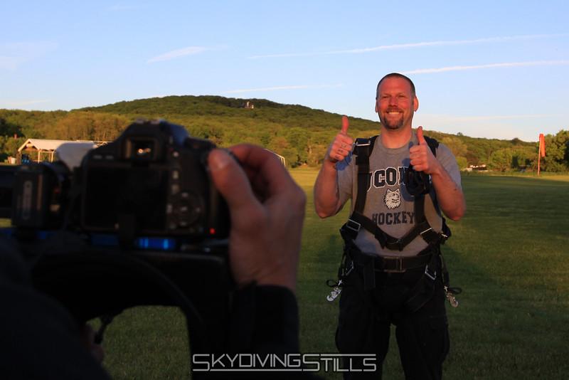 Rick rates skydiving at 2 thumbs up. 5/15/10