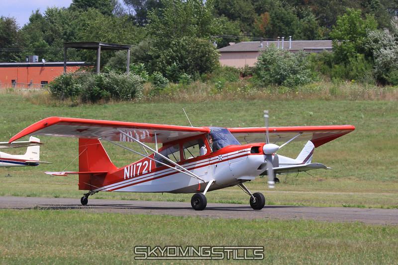 The 1972 Bellanca 7KCAB Citabria banner tow plane, N11721. 8/8/10