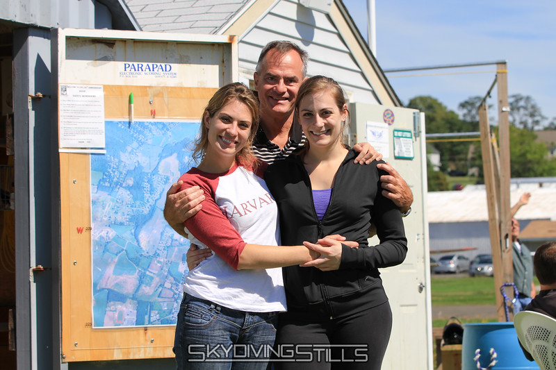 Helena with her sister and Dad. 9/17/11