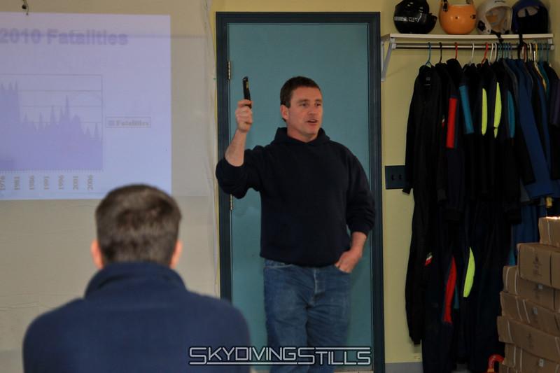 Matt presents at Safety Day. 3/12/11