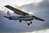 Cessna 150 N7658U on final. 12/17/11