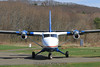 Twin Otter taxies onto the runway. 4/15/11