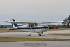 Cessna 172 taxies in. 2/3/12