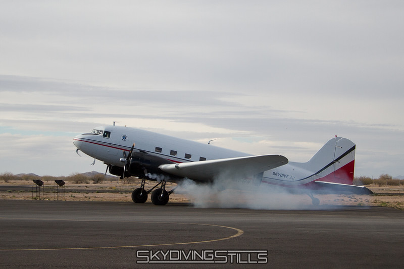DC-3 starting up.