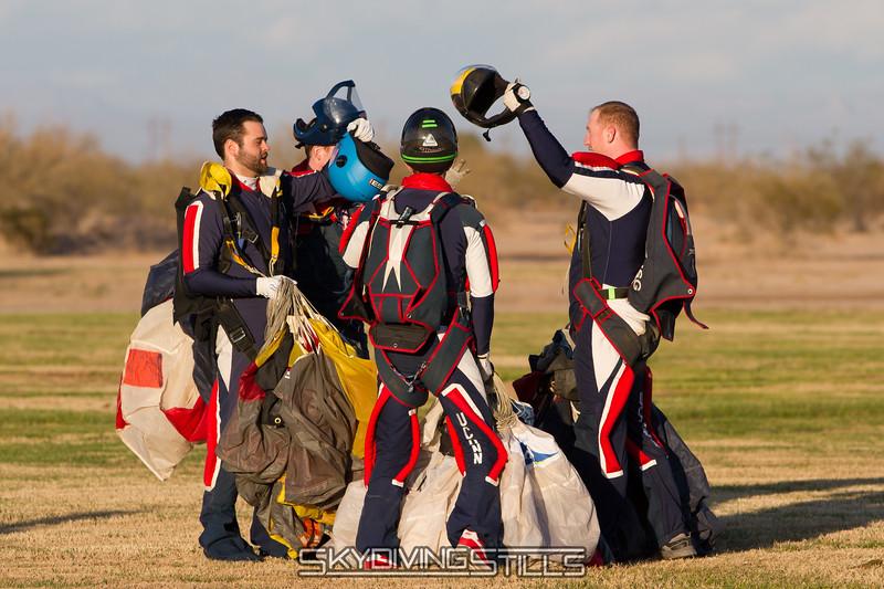 Joyous helmet clink. Published in Parachutist, March 2013.