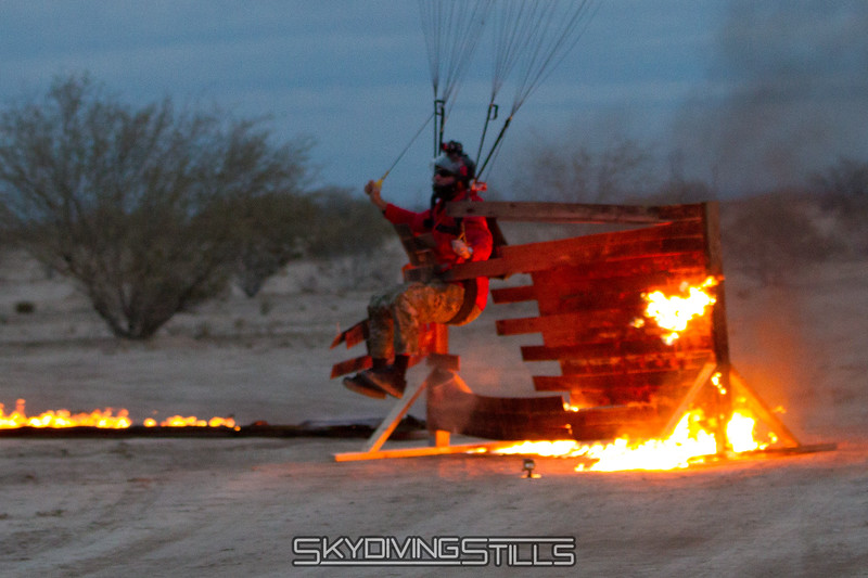 Fire Swooper at Eloy blows through the fire fence!