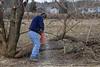 Chris turns a tree into firewood. 2/18/12