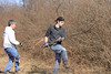 Clearing the cut trees. 2/18/12