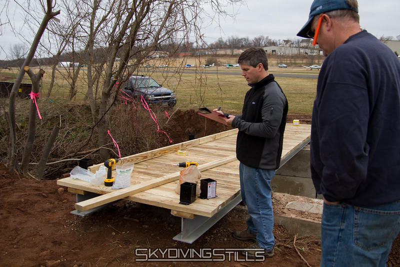 No pictures of the earlier stages of bridge construction because I was too busy lifting 30 foot steel I-beams and such. 3/17/12