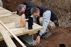 Rob and Mark start the ramp project. 3/17/12