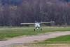 Flight Design CTLS N747JD doing a soft field takeoff.
