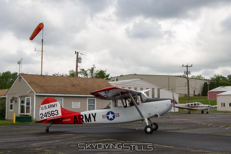 Cessna Bird Dog banner tow plane. 5/25/12