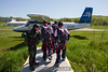 Scott and UConn's CT True Blue 4-way team head to the plane. 5/12/12