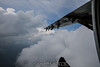 Dodging clouds.
