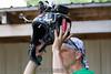 Scott prepares his camera helmet.