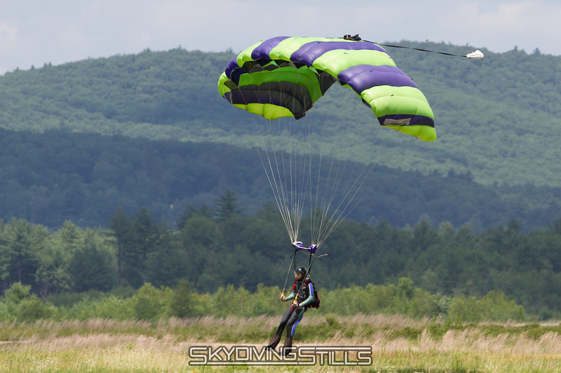 Mike about to touch down on his 200th jump!