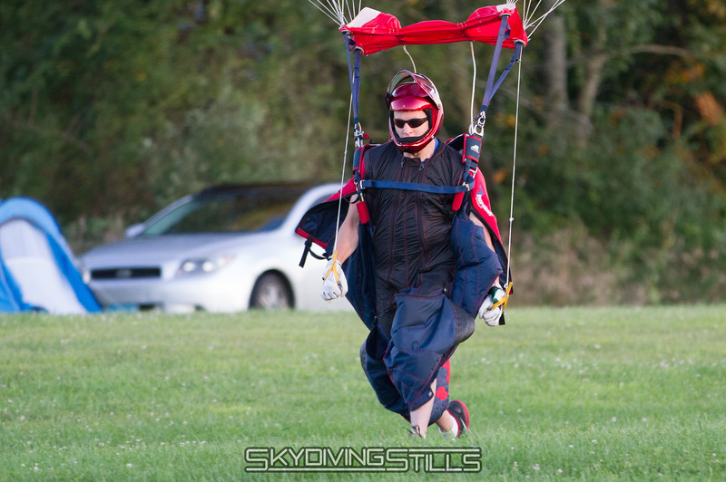 Landing all zipped up? He should be disqualified for not even trying.