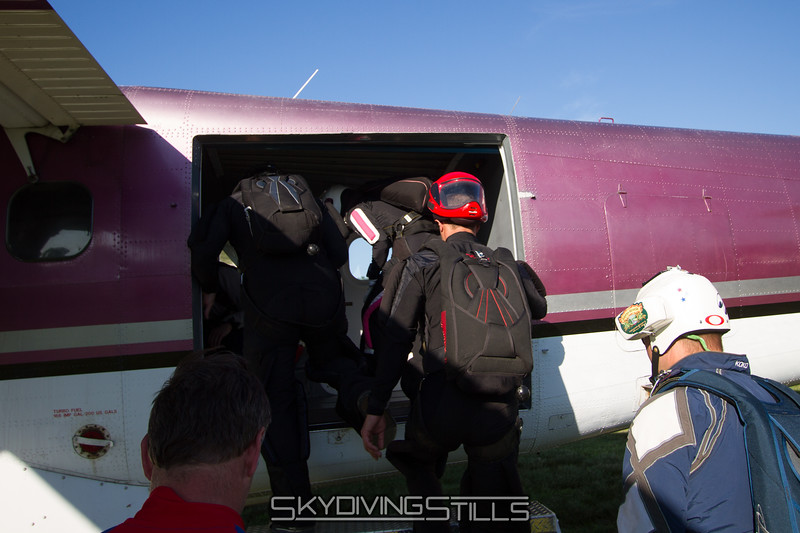 Alfonso boards a jump plane for his 1000th time.
