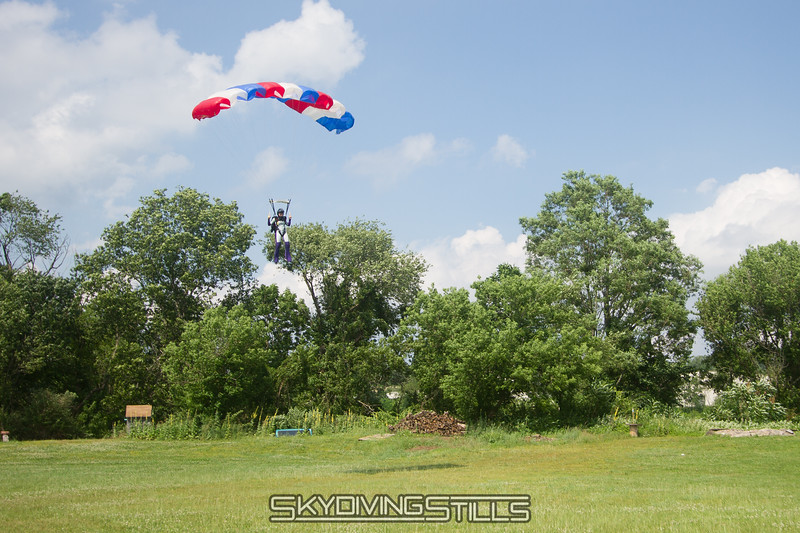 Sarah landing her new canopy.