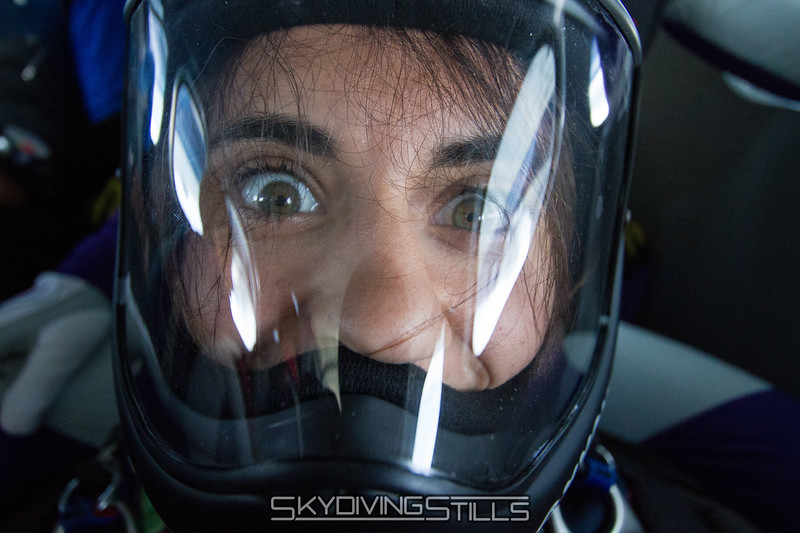 Melissa wasn't getting enough oxygen in her helmet.