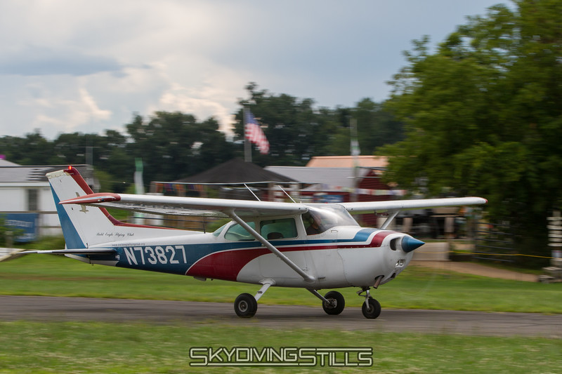 Steve rolling down the runway.