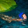 Kelly swims free.