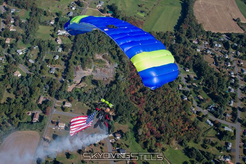 Dave's smoke and flag jump.