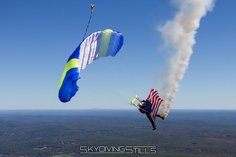 Dave's smoke and flag jump.