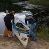Sarah and RipcorD prepare the canoe.