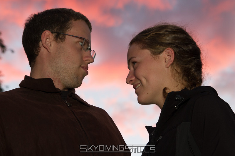 """This is Jeff's """"looking longingly into her eyes"""" look."""
