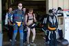 Orange underwear crew. Didn't ask.