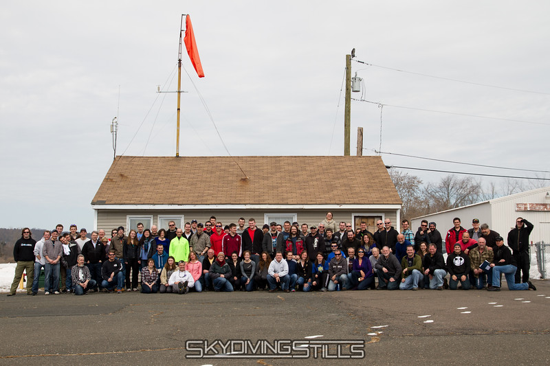 2014 Safety Day group picture. Published in Parachutist, May 2014.