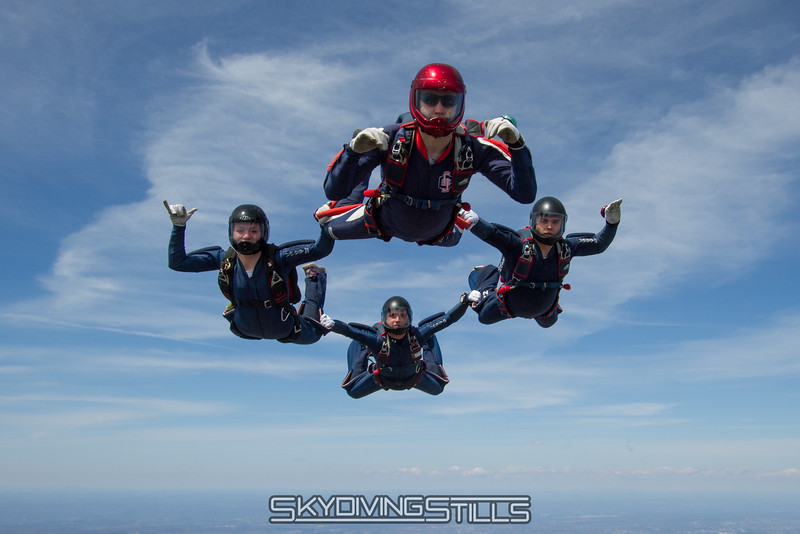 CT True Blue poses for a picture. Published in Parachutist, July 2014.