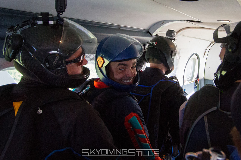 Ok, now that we're all in the plane he's smiling.