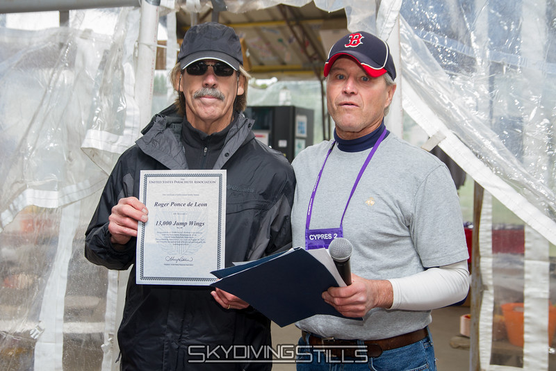 "Roger receives his 13,000 jump wings. He's the 49th skydiver to receive this award. Published in Parachutist, January 2016. <br><span class=""skyfilename"" style=""font-size:14px"">2015-10-02_skydive_cpi_0142</span>"