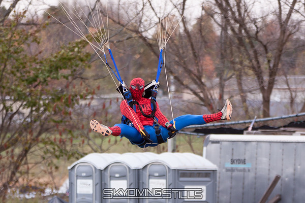 "Shooting webs at the porta potties. <br><span class=""skyfilename"" style=""font-size:14px"">2016-10-29_skydive_cpi_0892</span>"